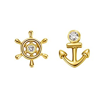 Best gold anchor earrings Reviews