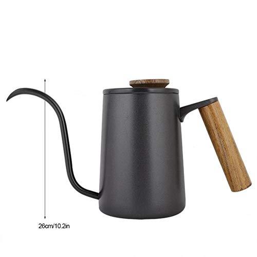 RANJN 600 ml mode roestvrijstalen handvat druppelkoffiepot lange zwanenhals uitloop waterkoker