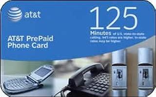 At&t Prepaid Phone Card - 125 Min.