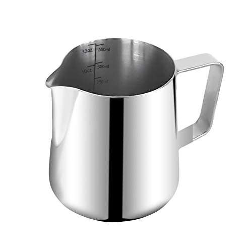 Coffee 12oz Stainless Steel Milk Frothing Pitcher Perfect for Espresso MachinesNonDrip Spout DesignTool Holder Design Milk Frothers Latte Art