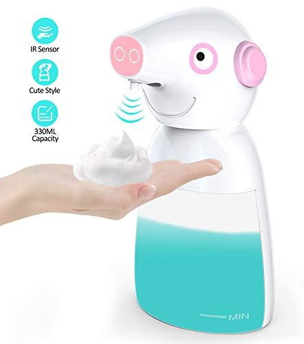 Cocoda Seifenspender Automatisch, 330ML Desinfektionsspender mit Infrarot Sensor, Berührungsloser Schaumspender aus Kunststoff, Wiederbefüllbar, 3-Stufige Verstellbar für Bad,Küche, Toilette, Büro