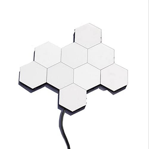 6 Paquete de Luces de Pared hexagonales, Sensor táctil Inteligente para la Salud y Cuidado de los Ojos DIY Montaje Modular geométrico de Pared, para la Sala de Estar