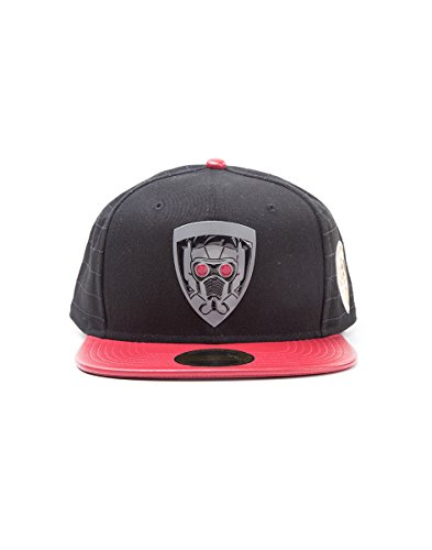 Meroncourt Marvel Comics Guardians of The Galaxy Vol. 2 Character Snapback Baseball Cap, One Size, Red Casquette, Black (Star Lord), Taille Unique Mix