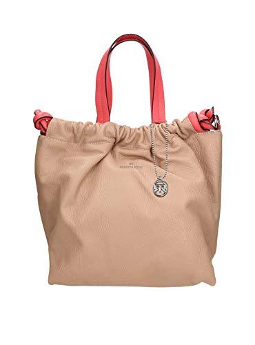 Roberta Rossi Outlet Bolso shopper mujer en cuero genuino Dollar hecho a mano en Italia, 30x30x17 cm. Fabricado en Italia RRSS2001ST183722FBLNAT_P