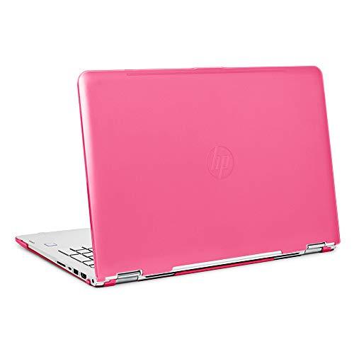 mCover iPearl Hard Shell Case for 15.6' HP Envy X360 15-AQxxx / M6-AQxxx Series (15-AQ173cl / m6-AQ103dx, etc) Convertible laptops (X360-15-AQ Pink)