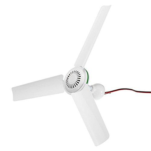 YOUTTOO - Ventilador de techo solar con interruptor y 3 aspas para caravana (24 V)