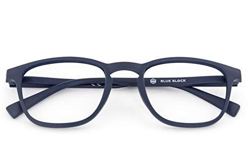 nowave BLUEBLOCK Occhiali Lettura +3.00 | Occhiali da presbite per PC, Tablet, Smartphone |Leggeri, colorati e moderni | Occhiali riposanti ANTI LUCE BLU 40% |+3.00 Blu