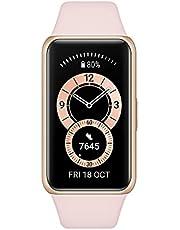 """HUAWEI Band 6, Dygnet Runt SpO2 Mätning, 1.47"""" FullView Display, 2 Veckors Batteritid, Snabbladdning, Pulsmätning, Sömnövervakning, 96 Träningslägen, Påminnelser för meddelanden, Sakura Pink"""