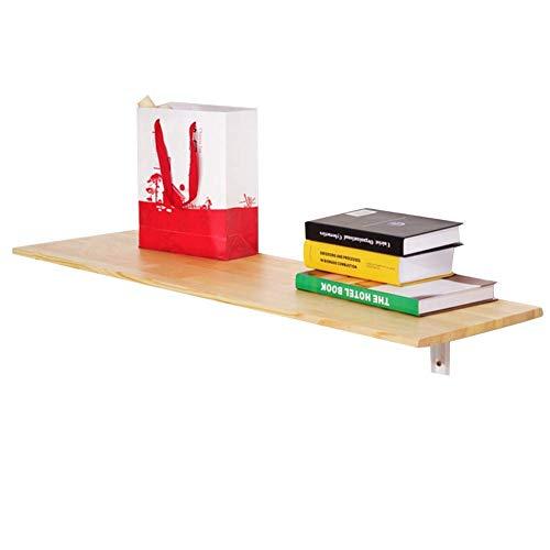 Wandmontierter Laptopständer Schreibtisch Multifunktionaler Klappbarer Wandschreibtisch, Tischbalkongestell Kinderarbeitstische Esstische, Massivholz, Multi-Size Optional, BOSS LV,