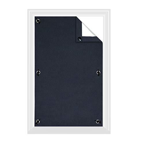 Greatime 100% Lichtundurchlässig Gardinen mit Saugnäpfen Verdunkelungsvorhang, Isolierung für Velux Dachfenster(Marineblau,96x120cm)