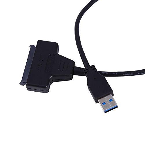 Diyeeni USB 3.0 naar SATA-kabel, 22-pins (15 + 7-polig) voedingskabel, SATA naar USB-kabel voor 2,5 inch HDD-SDD-harde schijf