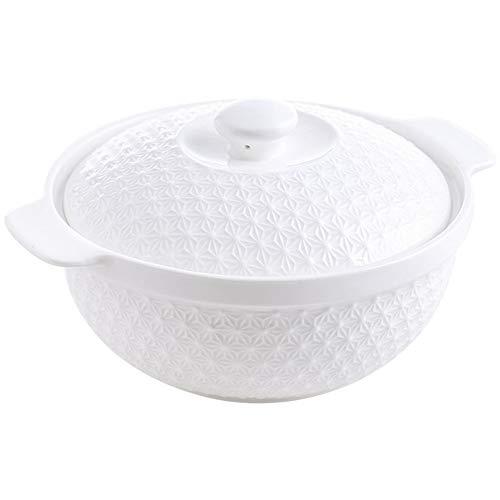 PFZM Groß Keramik Suppenschüssel Mit Deckel, Elegant Suppen Schale Nudelschale für Müsli, Nudeln, Suppen, Kreative Porzellan Modern Essgeschir 800ml Mikrowellen- und Spülmaschinen Sicher
