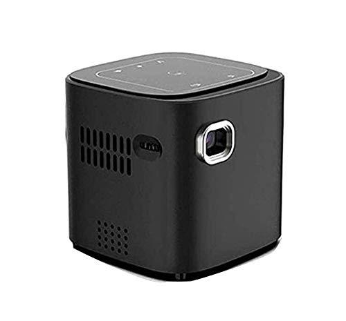 ZOUSHUAIDEDIAN Mini proyector, Full HD 1080P, proyector portátil LED, proyector multifunción, proyector de Reflejo inalámbrico portátil para iOS/Android / PS4 / PC Hogar y al Aire Libre