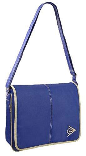 Dunlop Faux Leather Messenger Bag, Blue