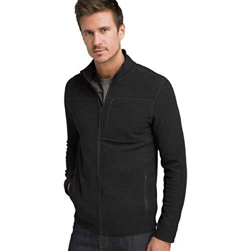 prAna Riddle Full-Zip Sweater - Men's Black, L