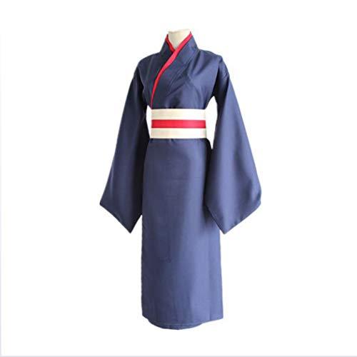 Ye Wang Disfraces de Cosplay de Anime para Hombre, Disfraz de Anime Tomoe Kamisama Love, Kamisama Kiss/Kimonos Japanese Fashion Blue Kimono 3 Piece Set- S, M, L, XL,M166~171 cm
