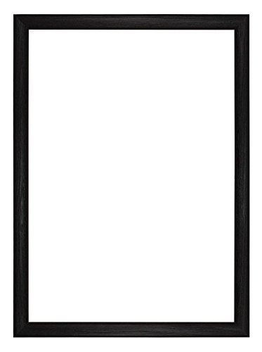 Memory Box Budget Wood Range Bild/Foto/Poster Rahmen–budgetwd-BlkWht-Px-RL-glsparent, Schwarz, 18