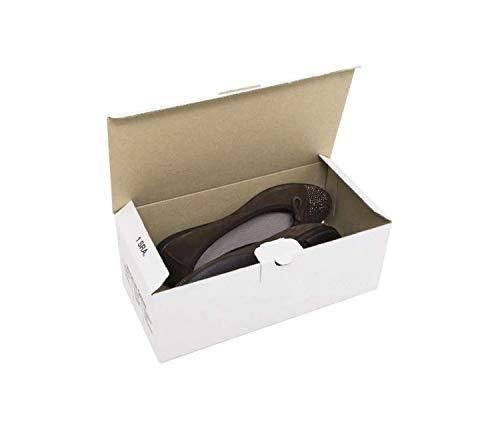 Cajeando | Pack de 10 Cajas de Cartón Automontables para Zapatos | Tamaño 28 x 13,8 x 10 cm | Zapatero Apilable y Ordenación de Sneakers o Zapatillas | Guarda Zapatos | Color Blanco