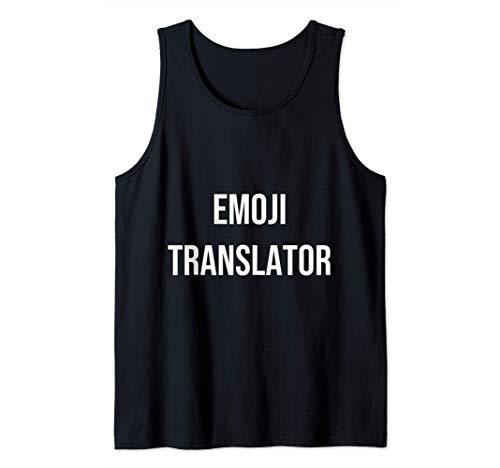 Emoji translator Funny Granddaughter Grandson Gift Tank Top