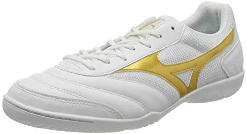 Mizuno MRL Sala Club In, Zapatillas de fútbol Unisex Adulto, White/Gold, 45 EU