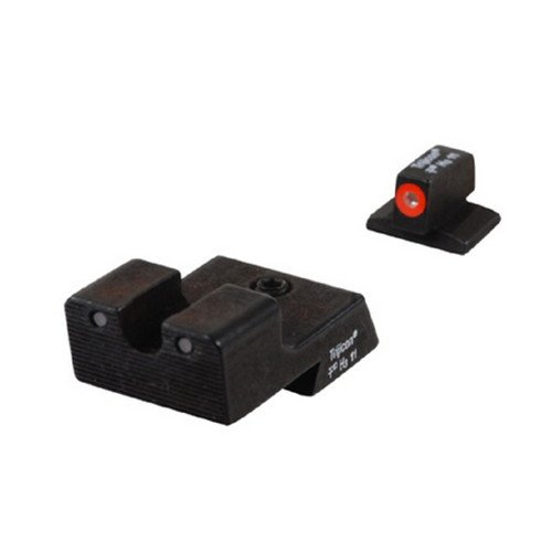 Trijicon CA128O Novak HD Night Sight Set, Low Mount Dovetail Cut, Orange Front Lamp