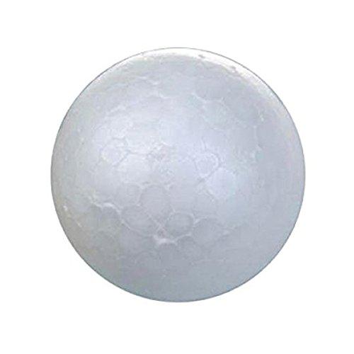TOOGOO(R) Palla in schiuma 20 X bianco decorazioni a sfera di albero di Natale palla di modellazione artigianale pallina di polistirolo 7cm