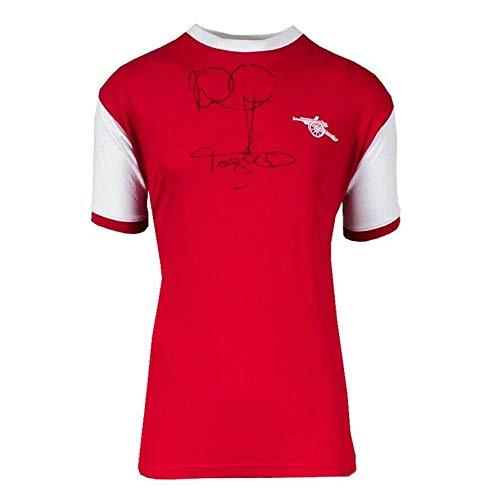 Ian Wright & Tony Adams Signed Retro Arsenal Shirt Autograph Jersey - Autographed Soccer Jerseys