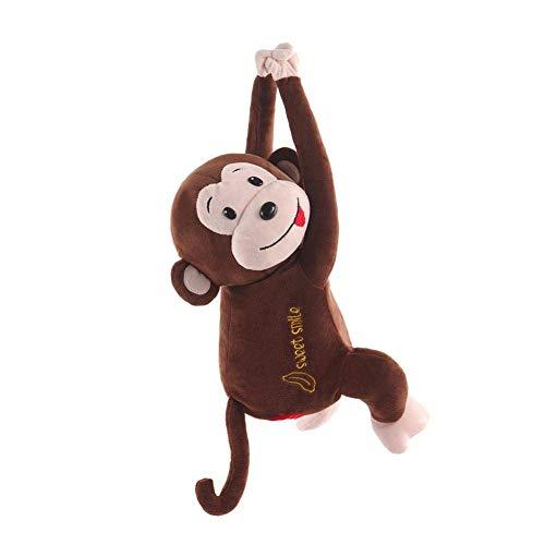 N /A QJYNS Hängende Tissue Box Kreative verspielte Monkey Car Tissue Box Monkey Tissue Box Autositz Rückenlehne Tablett Serviettenbox Aufbewahrungsbox für Auto