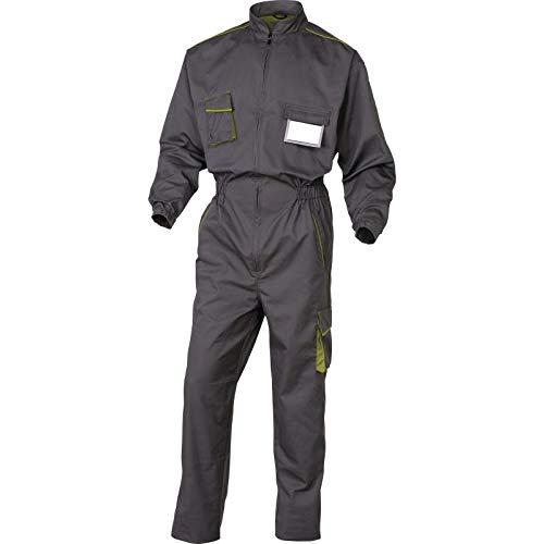 Deltaplus M6COMGRGT Panostyle Arbeitskombination Aus Polyester Baumwolle, Grau-Grün, Größe L
