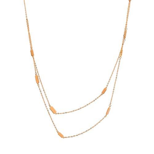 Lumarigold gouden dameshalsketting 585 14 k goud geelgoud 2 ketting met hanger rechthoekig graveren