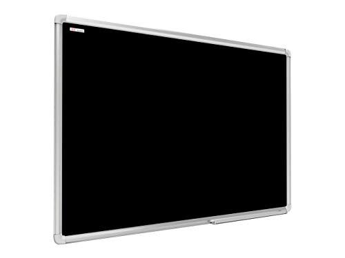ALLboards Lavagna Nera da Gesso Magnetica con Cornice in Alluminio 120x90cm, Scrivibile con Gessetti e Pennarelli a Gesso