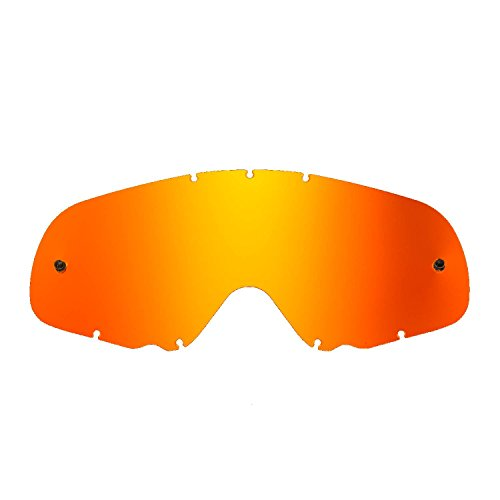 SeeCle vervangende lenzen voor bril compatibel met Oakley Crowbar masker Rood gespiegeld