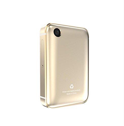 XHL Art Smart Phone Uhr I5s Rechteck 2,0 Zoll Bunten Großen Bildschirm Mini Auto Weitwinkel-Video-Aufzeichnung Schrittzähler Smart Armband Uhr,Gold