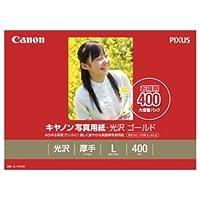 (まとめ) キヤノン Canon 写真用紙・光沢 ゴールド 印画紙タイプ GL-101L400 L判 2310B003 1箱(400枚) 【×2セット】 〈簡易梱包