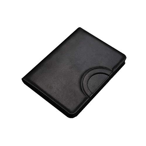 Ordenado Carpeta de cartera de carpetas de cuero PU Folder-Legal Document Organizer y Titular de la tarjeta de visita Portapapeles de papel de escritorio y manga de documentos para la conferencia de o