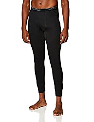 mens thermal pants black