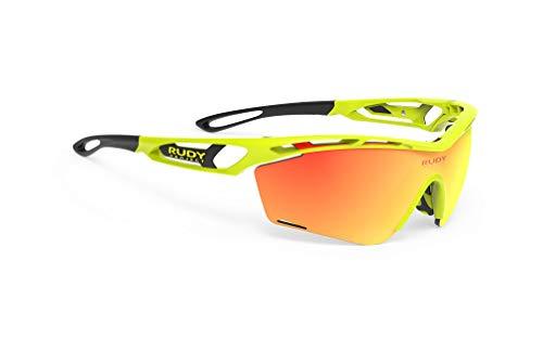 ルディプロジェクト(RUDYPROJECT) スポーツ サングラス ロード バイク 自転車 マラソン ジョギング 運動 トライアスロン テニス 野球 バンパー TRALYX SLIM トラリクス スリム イエロー フルオ フレーム/マルチ レーザー オレン