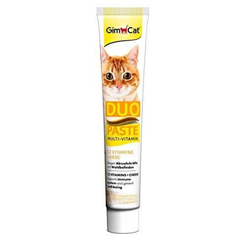 GimCat Duo Paste Multi-Vitamin und Käse - Wertvolle Vitamine steigern Abwehrkräfte und Wohlbefinden - 1 Tube (1 x 50 g)