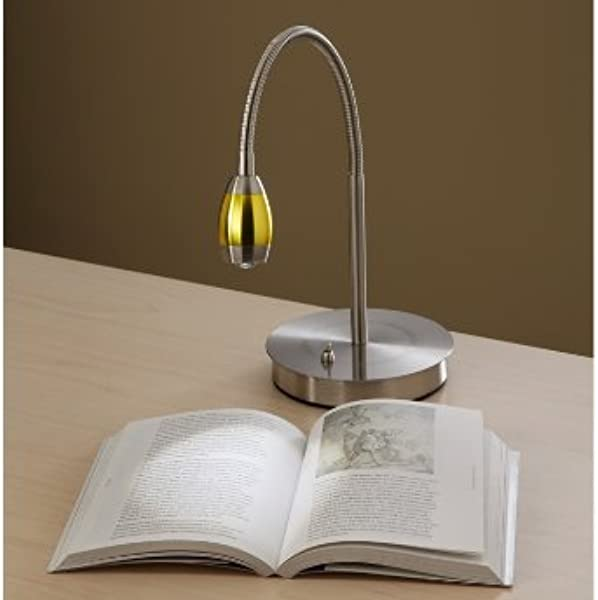 Focused Beam Natural Light Desk Lamp Gold Shade
