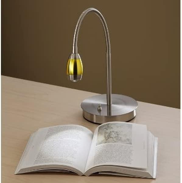 Focused Beam Natural Light Desk Lamp Gold Shade