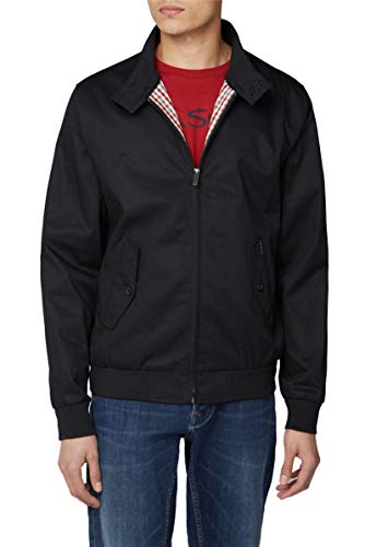 Ben Sherman Men's Classic Harrington Blouson Jacket Black XXX-Large