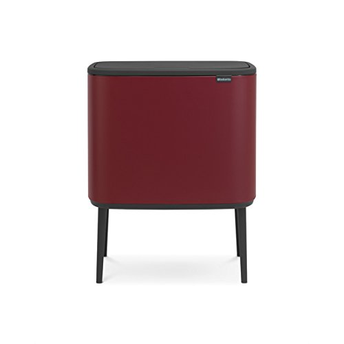 Brabantia - 316302 - Poubelle Bo Touch Bin, 36 litres, Mineral Windsor Red