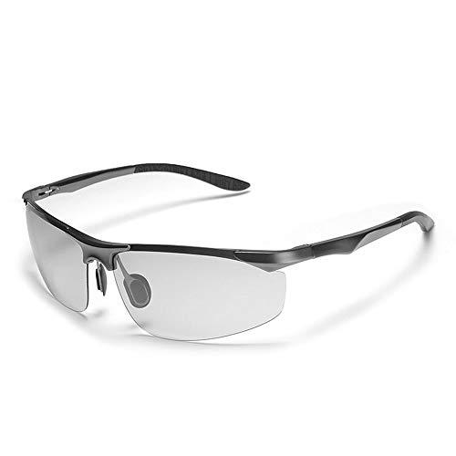 YUHUANG zonnebril, Photochromic Al-Mg Polariserende zonnebril, Outdoor Vrije tijd, Zwart