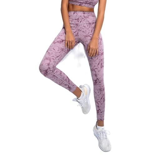 QTJY Pantalones de Yoga sin Costuras para Mujer, Push-ups, Celulitis, Ejercicio, Gimnasio, Pantalones de Yoga, Cintura Alta, Estiramiento, Ejercicio, Pantalones para Correr, E L