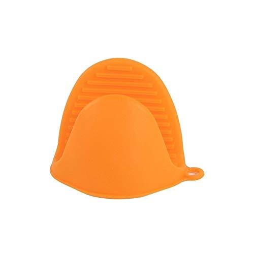 ZYZZ Clips de Agarre para Cuencos domésticos Clips de Silicona para Aislamiento térmico Guantes Antideslizantes Anti escaldaduras para Cuencos Carpeta Ollas Horno Horno microondas (Color : Orange)