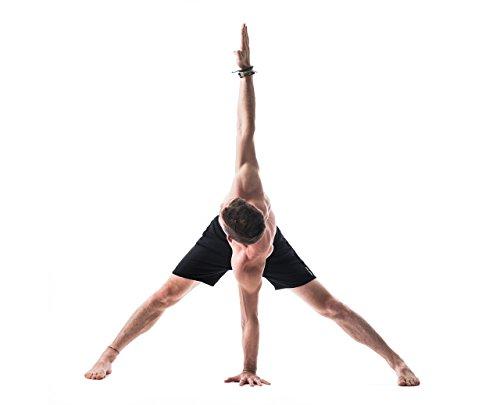 YOGA CROW Men's Swerve Yoga, Workout Shorts