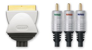 Profigold BA-PGV373 - Plomo vídeo SCART a 3 RCA - 3.0m