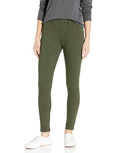 Amazon Essentials Women's Skinny Stretch Pull-On Knit Jegging, Olive Heather, Large Regular