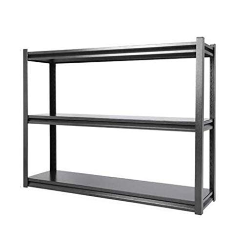 HUYYA Verticales Metal Etagere Rangement Cuisine Micro Onde, réglables rayonnage Stockage Tablette Utilitaire rayonnage Stockage Tablette,Silver Black_48x12x36.56inch
