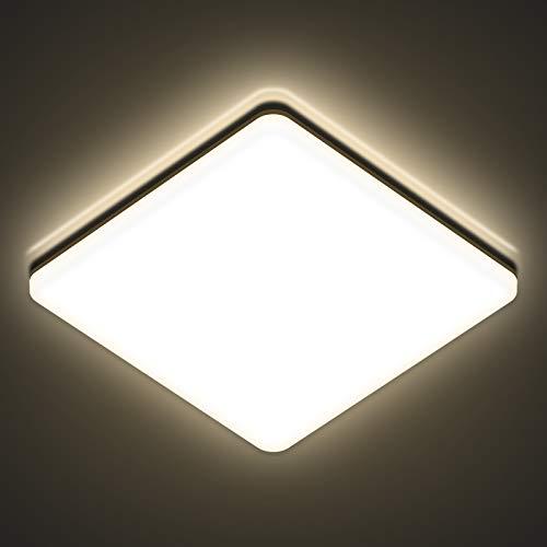 LED Deckenleuchte 24w, AVANLO 4000k Deckenlampe LED Wohnzimmer, Ø28cm Deckenleuchte 2400lm, Badezimmer Lampe, Deckenleuchte für Büro, Dünn